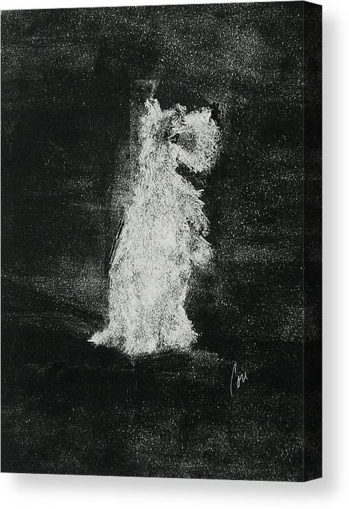 Monotype Canvas Print featuring the mixed media Midnight Sonata by Cori Solomon