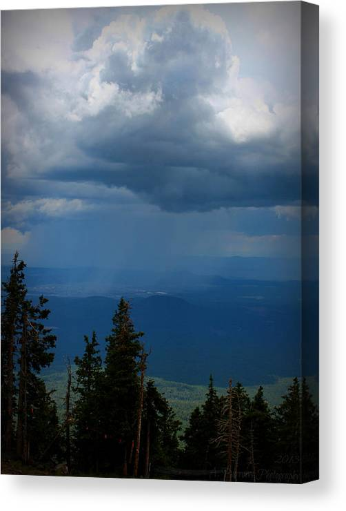 Flagstaff Canvas Print featuring the photograph Monsoon Valley Development by Aaron Burrows