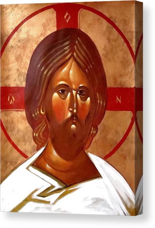 Icon Canvas Print featuring the painting Pantocrator by Joseph Malham