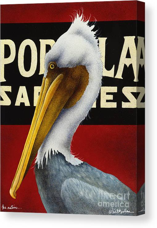 Will Bullas Canvas Print featuring the painting The Native... by Will Bullas