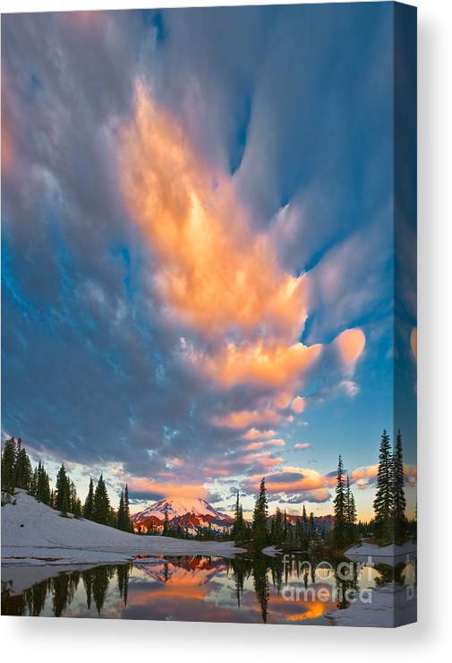 Landscape Canvas Print featuring the photograph Tipsoo Sunrise by Don Hall