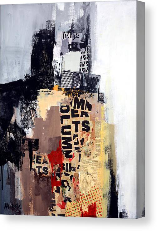 Mixed Media Abstract Canvas Print featuring the mixed media Urban Renewal by James Hudek