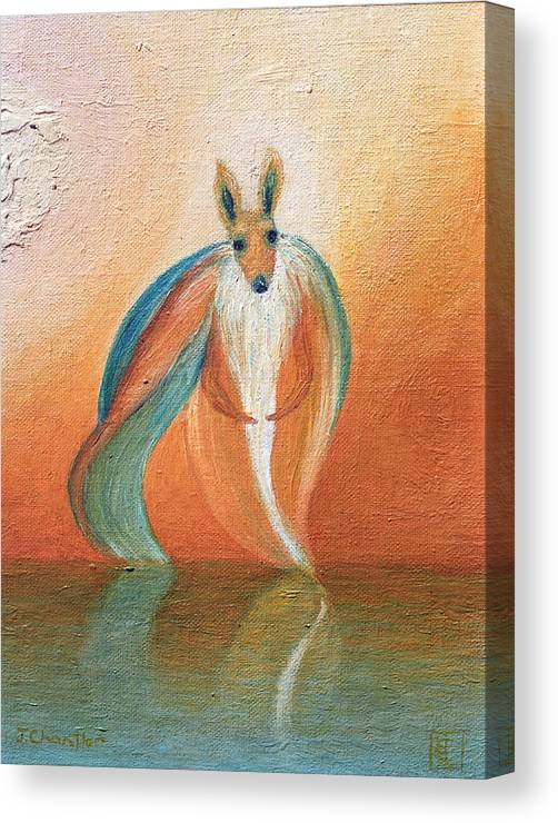 Wallaby. Judith Chantler. Canvas Print featuring the painting Wallaby Spirit by Judith Chantler