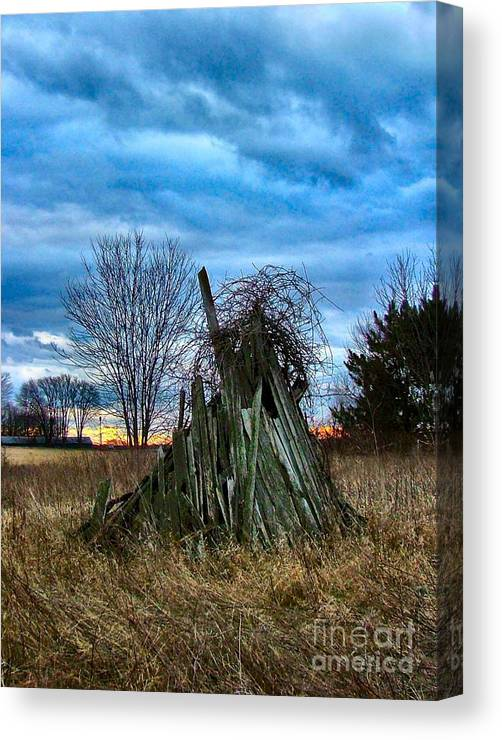 Woodstacks Canvas Print featuring the photograph The Woodstack by Julie Dant