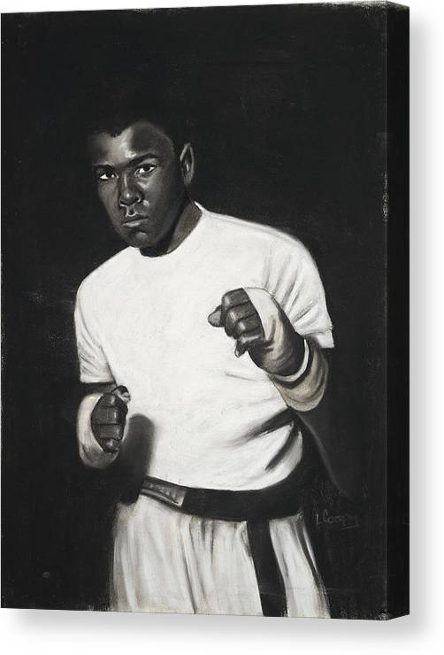 L Cooper Canvas Print featuring the pastel Cassius Clay by L Cooper