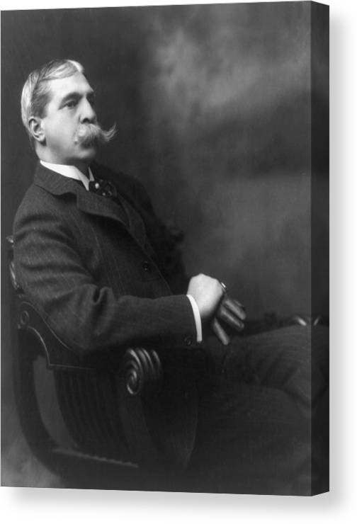 History Canvas Print featuring the photograph Francis Hopkinson Smith 1838-1915 by Everett
