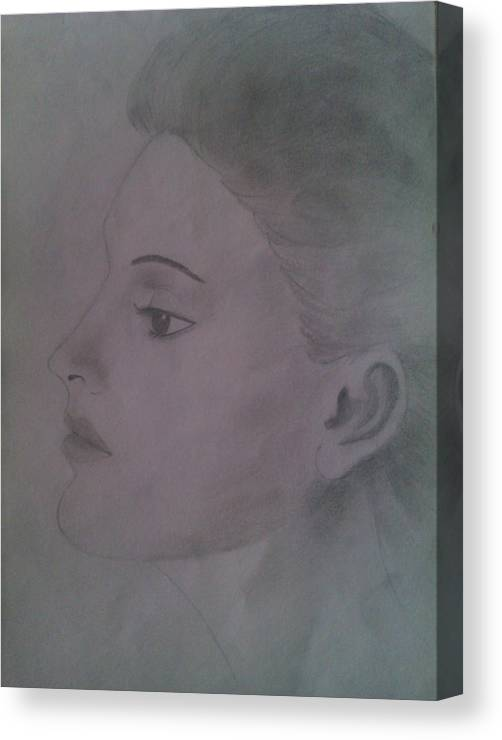 Lonely Canvas Print featuring the drawing Lonely Lady by Sagar Pawaskar