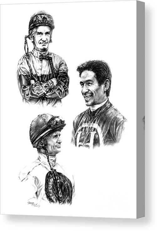 Willie Shoemaker Canvas Print featuring the painting The Legends by Thomas Allen Pauly