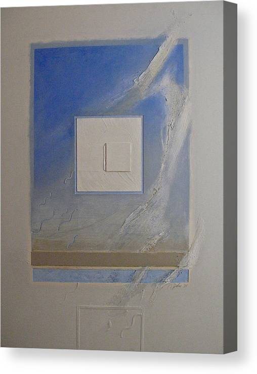 Abstract Paintings Canvas Print featuring the painting Transition 1  Weather by Cliff Spohn