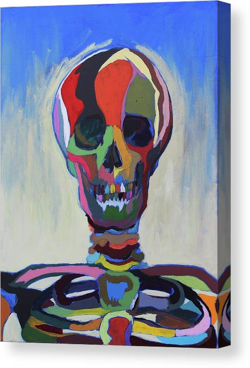 Canvas Print featuring the painting Death by Dave Montgomery
