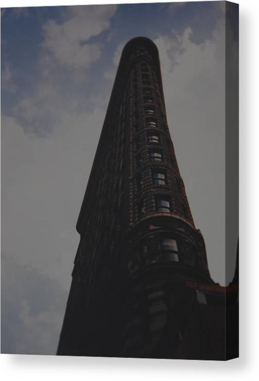Flat Iron Building Canvas Print featuring the photograph Flat Iron Building by Rob Hans
