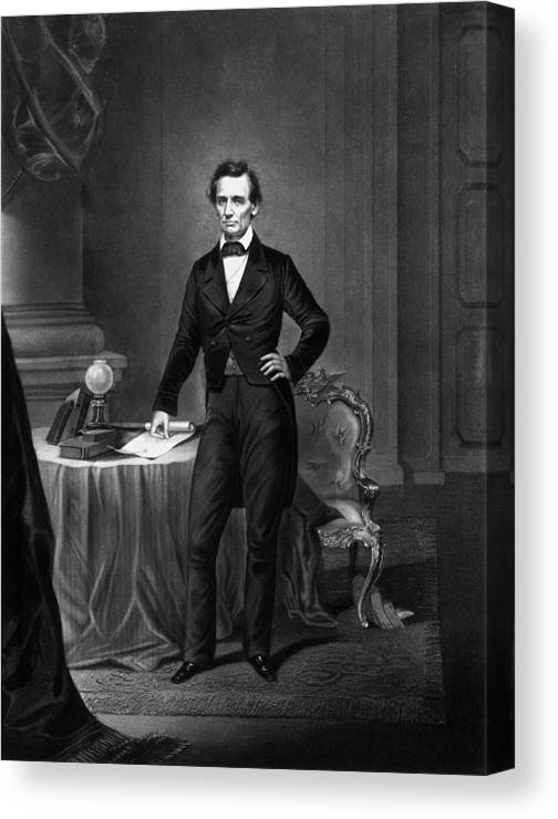 image regarding Printable Pictures of Abraham Lincoln named President Abraham Lincoln Canvas Print