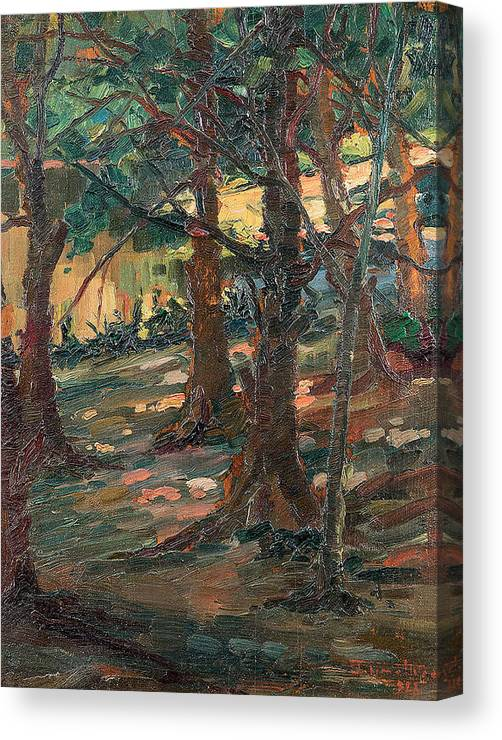 Artur Timoteo Da Costa 1882 - 1823 Canvas Print featuring the painting Trees by MotionAge Designs