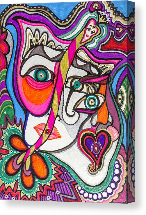 Heart Canvas Print featuring the painting A Better Look by Laurel Rosenberg