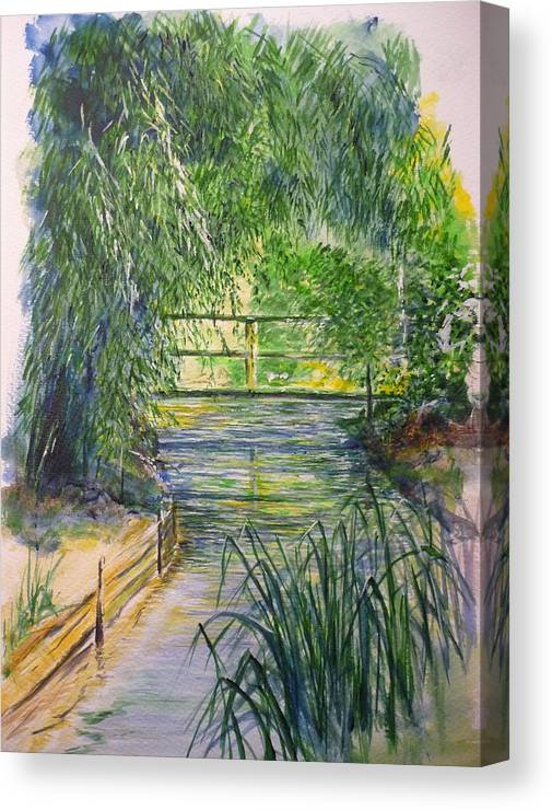 Giverny Canvas Print featuring the painting A Day At Giverny by Lizzy Forrester