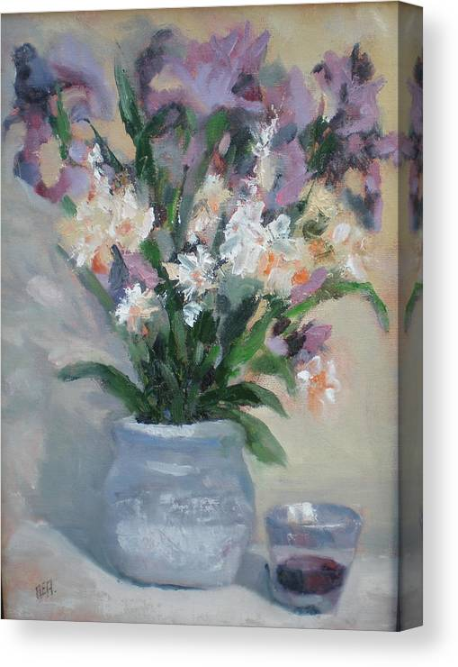 Still Life. Awarded Blue Ribbon At July 2007 Canvas Print featuring the painting A Toast To Rose by Bryan Alexander