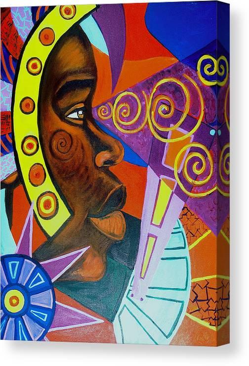 Maliksart Canvas Print featuring the painting Aesthetic Ascension by Malik Seneferu