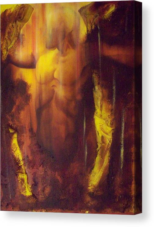 Original Paintings Canvas Print featuring the painting Almost Beyond3 by Hoparte Gallery