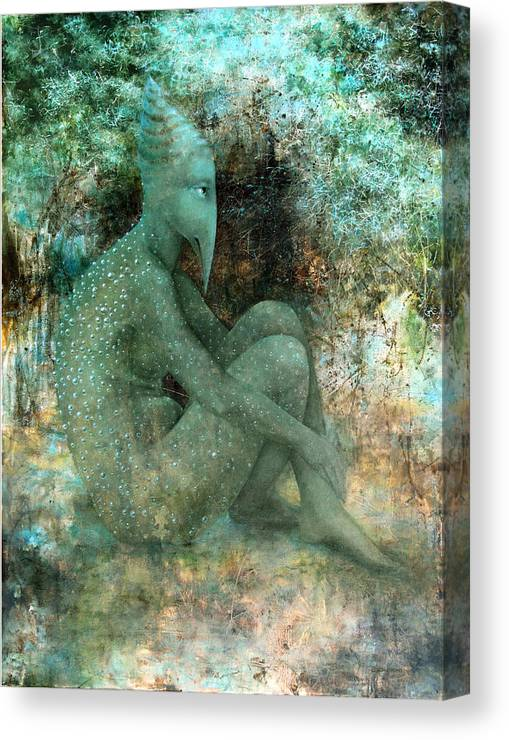 Landscape Canvas Print featuring the painting Anticipation by Lolita Bronzini