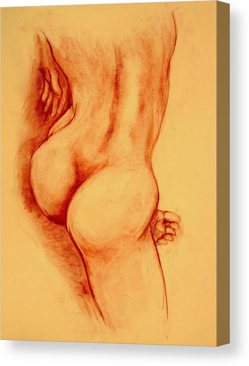 Nude Canvas Print featuring the painting Asana Nude by Dan Earle
