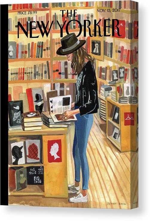 At The Strand Canvas Print featuring the digital art At The Strand by Jenny Kroik