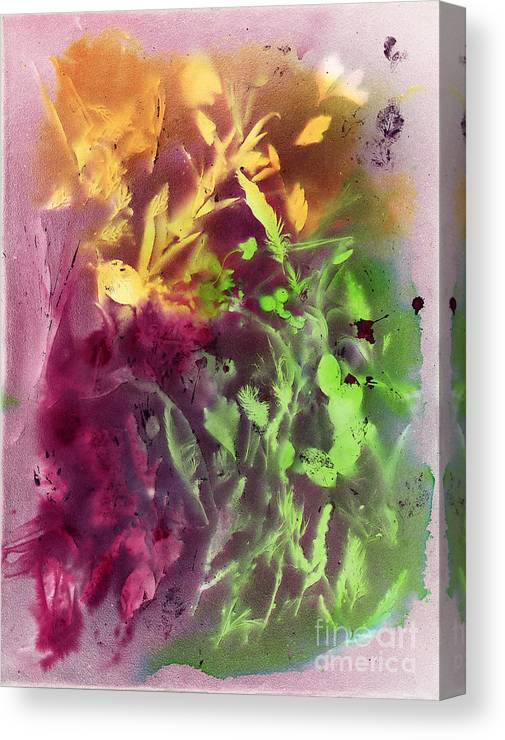 Abstract Canvas Print featuring the painting Autumn Abstract by Dawn Marie Black