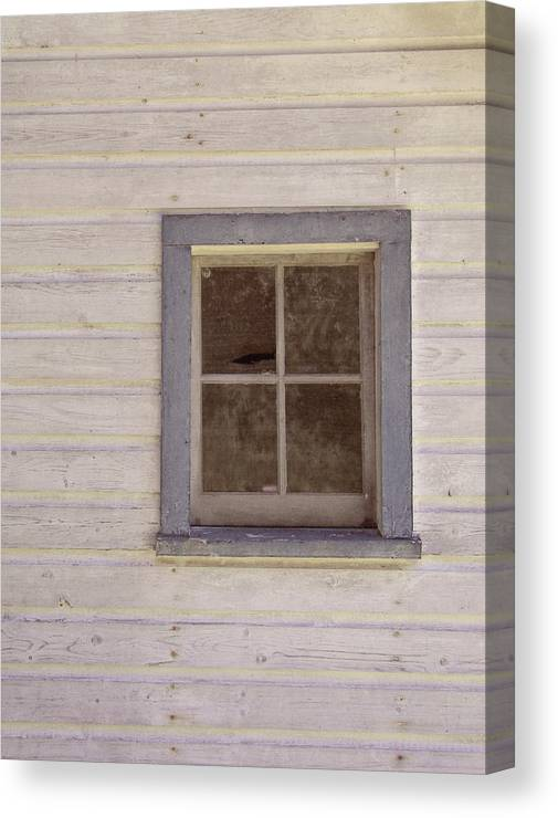 Window Canvas Print featuring the photograph Blue Window by JAMART Photography