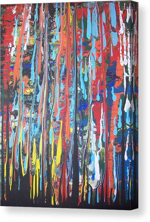 Abstract Canvas Print featuring the painting Cascade by Hollie Leffel