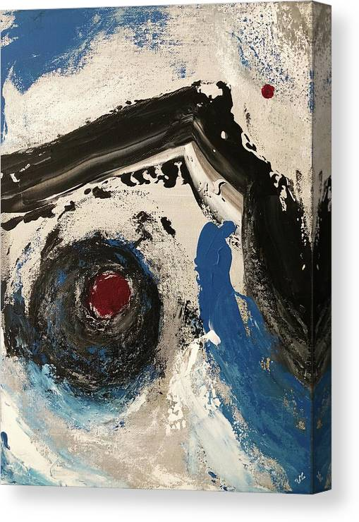 Chaos Canvas Print featuring the painting Chaos by Victoria Lakes