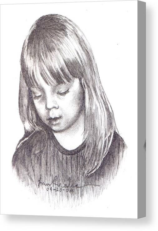 Portrait Canvas Print featuring the painting Charidy by Anne Rhodes
