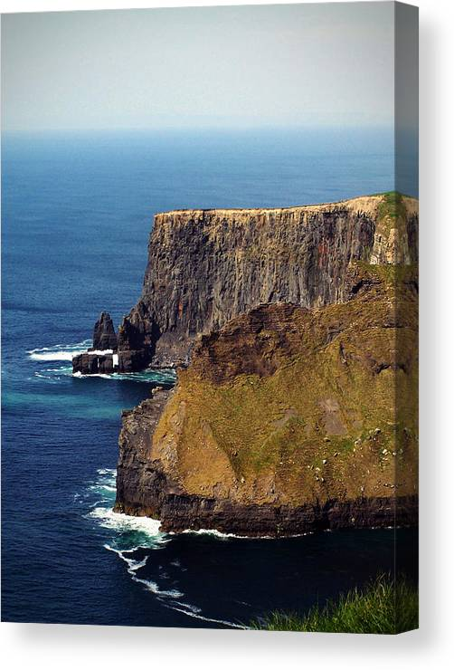 Irish Canvas Print featuring the photograph Cliffs Of Moher Ireland View Of Aill Na Searrach by Teresa Mucha