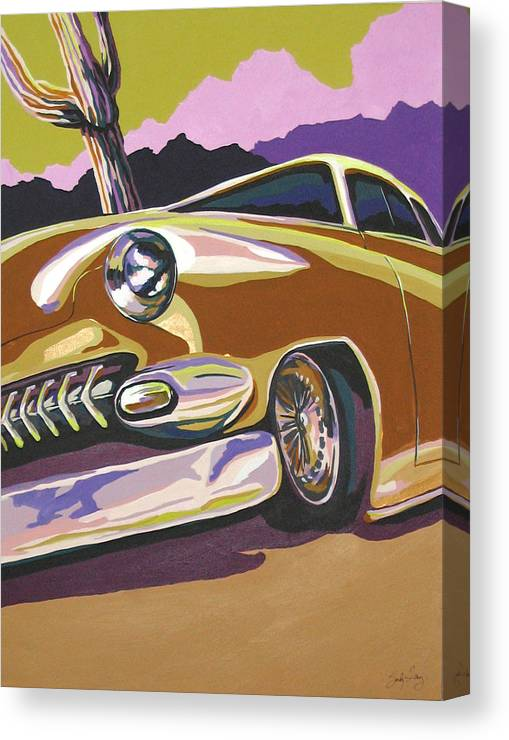 Route 66 Canvas Print featuring the painting Cruisin by Sandy Tracey