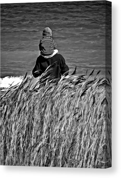 Discovery Canvas Print featuring the photograph Discovery Bw by Steve Harrington