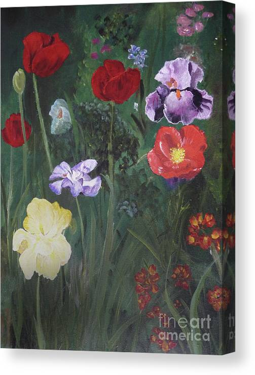 Flowers Canvas Print featuring the painting Family Flowers by Michael King