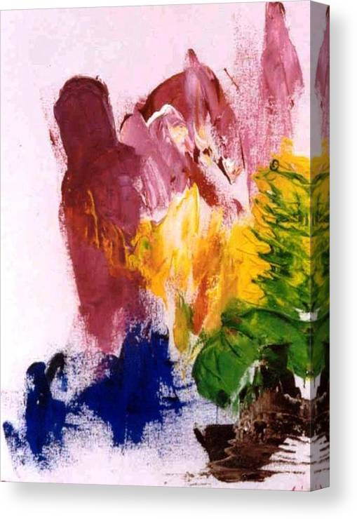 Colors Canvas Print featuring the painting Foreboding by Bruce Combs - REACH BEYOND
