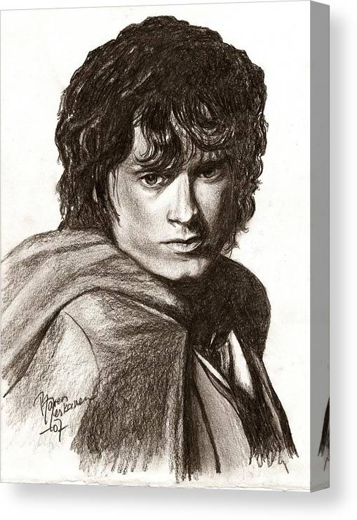 The Lord Of The Rings Canvas Print featuring the drawing Frodo by Maren Jeskanen