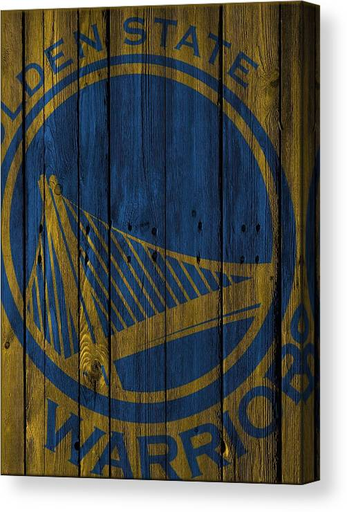 Warriors Canvas Print featuring the photograph Golden State Warriors Wood Fence by Joe Hamilton