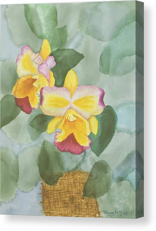 Orchids Canvas Print featuring the painting Gypsy Orchids by Peggy King