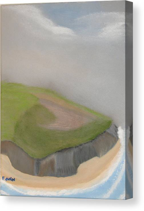 Ireland Canvas Print featuring the painting Ireland Cliffs by Edwin Long