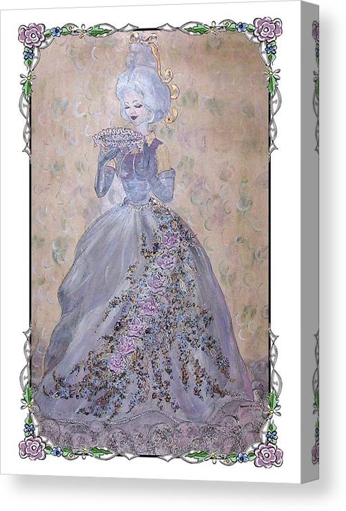 Still Life Canvas Print featuring the painting Lavender Lady by Phyllis Mae Richardson Fisher
