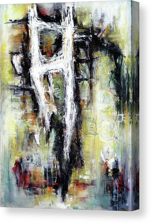Abstracts Forms Canvas Print featuring the painting My Heart's Adoration by Anil Kohli