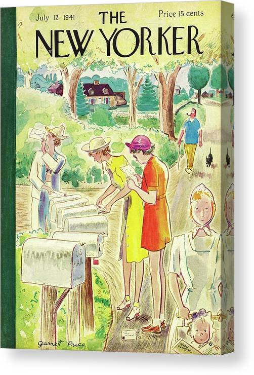 Country Canvas Print featuring the painting New Yorker July 12 1941 by Garrett Price