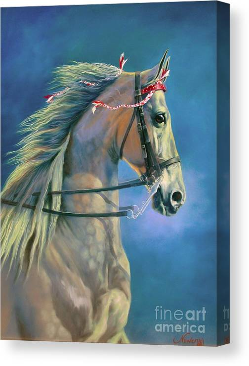 Horse Canvas Print featuring the painting Paranormal by Jeanne Newton Schoborg