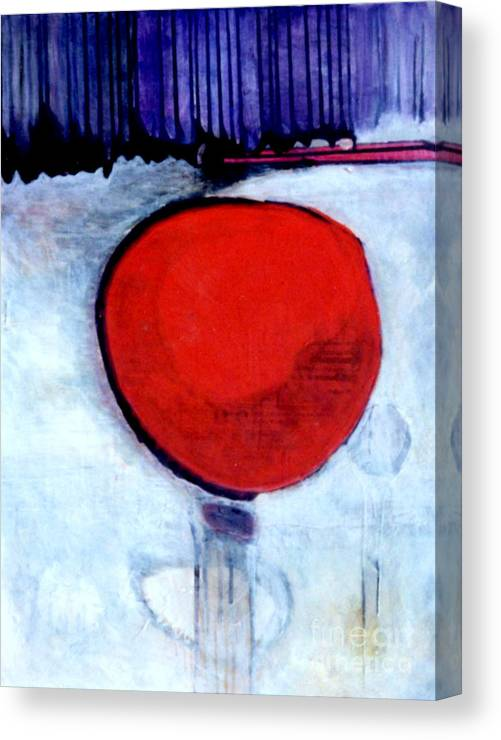 Red Canvas Print featuring the painting Red Twin Jump Start by Marlene Burns