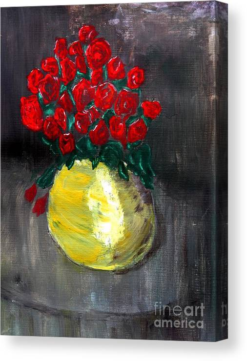 Roses Canvas Print featuring the painting Roses by Ralph LeCompte