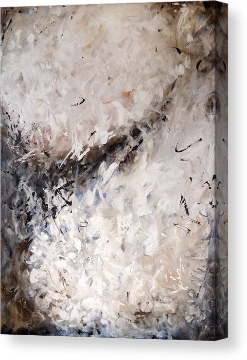 Abstract Canvas Print featuring the painting See The World Turn Abstract Painting by Karla Beatty