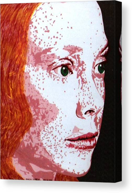 Movie Star Canvas Print featuring the painting Spacek by Gabe Art Inc