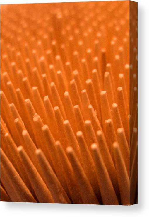 Toothpicks Canvas Print featuring the photograph Sticks by Ian MacDonald