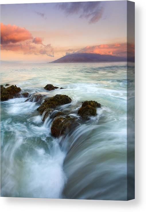 Sunrise Canvas Print featuring the photograph Sunrise Drain by Mike Dawson