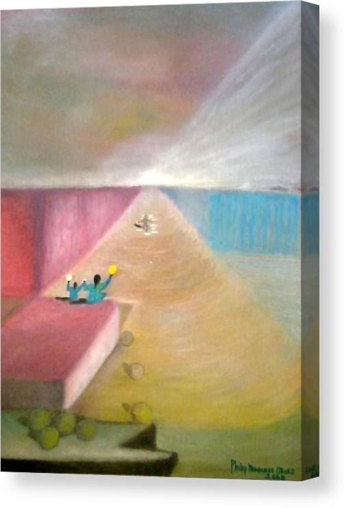 Art Canvas Print featuring the painting The Great Return by Philip Okoro